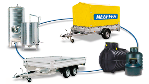 Kernobstmühle, Neuffer GmbH, Pferdeanhänger